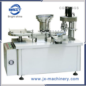 Button Control Penicillin Vial Bottle Cap Sealing Machine for SS316