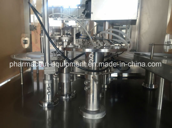 Aseptic Amber Vial Filling Labeling Machine with Rubber Stopper