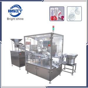 Effervescent Tablet Filling Machine / Tube Bottle Label Machine / Vitamin C Effervescent Tablet Packaging Machine / Tablet Filling Machine