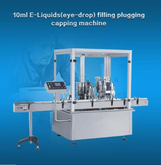 Middle Speed Bottle E-Cig Filling Plugging Capping Machine (80-100PCS /Min)