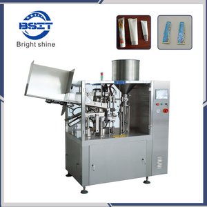 Cosmetics Shampoo Lotion Cream Gel Plastic Sealer Soft Squeeze Tube Filling Sealing Machine