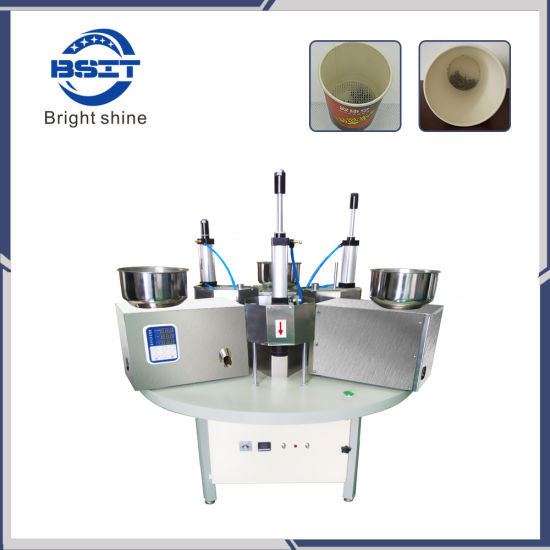 Bsb-828 Tea Hidden Cup Filling Fiber and Alu Foil Sealing Packing Machine