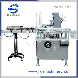 PLC Control Horizontal Automatic Bottle Cartoning Packing Machine (BSM125)