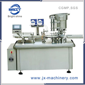 Piston Pump Vial Liquid Filling Stopper Sealing Machine with Rubber Plugging