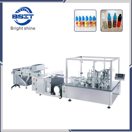 Electric Cigarette (eyedrop) Oil Liquid Filling Plugging & Capping Machine